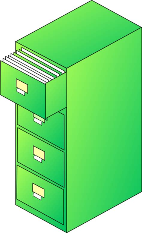 Cabinet Clipart by Filing Cabinet Green Clip At Clker Vector Clip