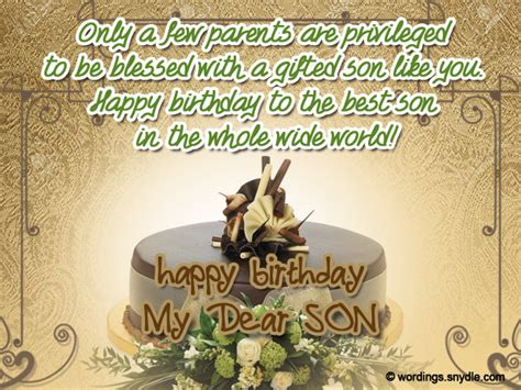 Happy Birthday Wishes For On Birthday Wishes For Son Wordings And Messages