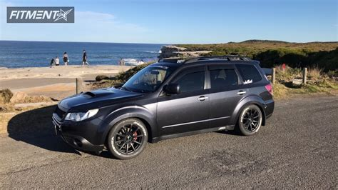 white subaru forester black rims 2009 subaru forester speedy bc racing coilovers