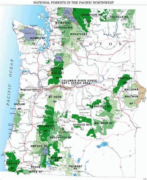 oregon national forests map forest service us forest service oregon