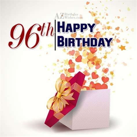 Happy Birthday Wishes To Small 96th Birthday Wishes