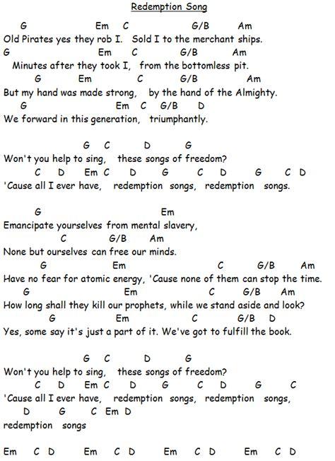 ukulele tutorial redemption song redemption song bob marley