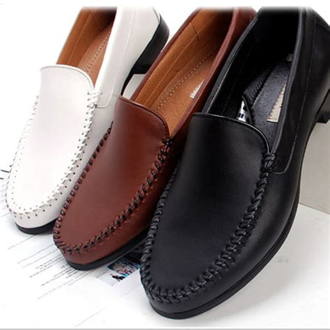 formal loafers shoes new mens casual dress leather shoes loafers slip on shoe