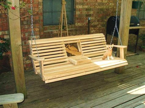 deck swings deck swing ideas free porch swing plans cup holder