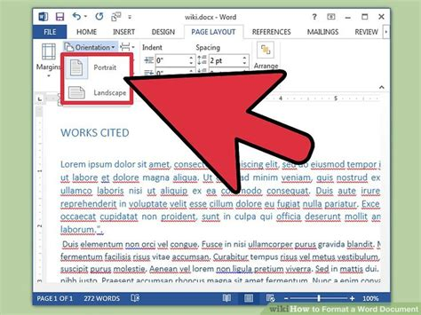 How To Format A Word Document