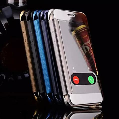 Iphone 5 5s View Clear Uv Mirror Flip Cover T1910 Aliexpress Buy For Iphone 6s Accessories Luxury