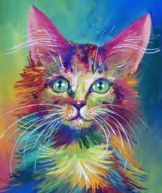 colorful cats colorful cat 4 by san t on deviantart