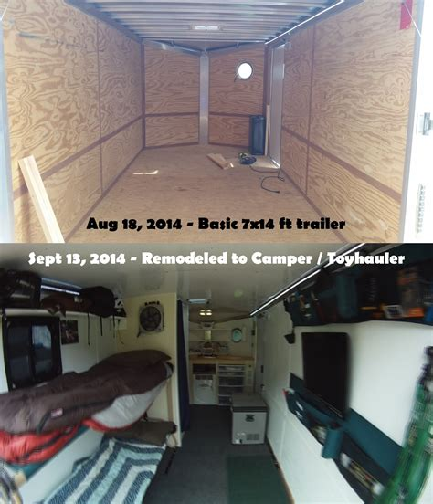 Bus Conversion Floor Plans by 7 X 14 Trailer To Camper Conversion Youtube