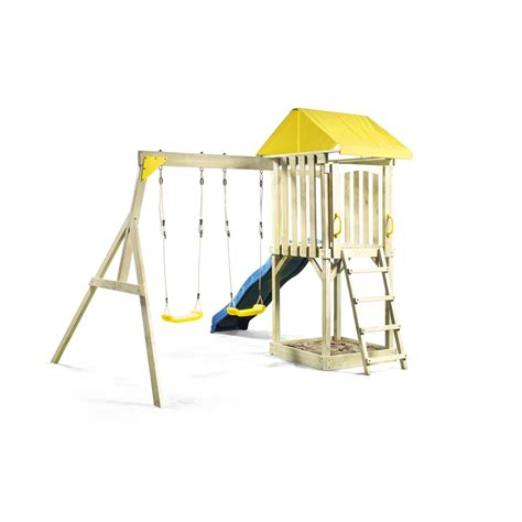 swing sets bunnings swing slide climb 5 1 x 2 2 x 2 5m hotham playground set