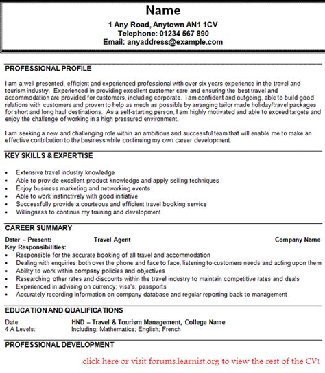Sample Resume Format For Data Entry Operator by Travel Agent Cv Example Forums Learnist Org