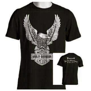 Kaos Harley Davidson Logo White kaos harley