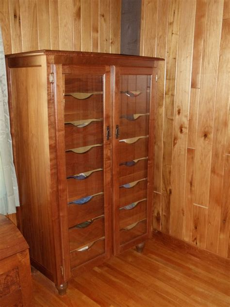 Handmade Dressers - handmade walnut dresser with glass doors by t