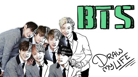bts my biography bts draw my life con sergiolabrador youtube