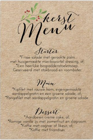kerst layout word 48 best lovz kerst menukaarten images on pinterest pen
