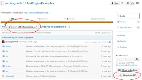 github tutorial checkout andengine tutorial extensions and exles kul 237 š android