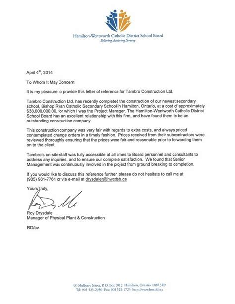 Recommendation Letter For Completion Project Completion Letter Letter Of Recommendation