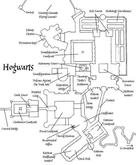 hogwarts castle floor plan hogwarts castle plan by decat on deviantart