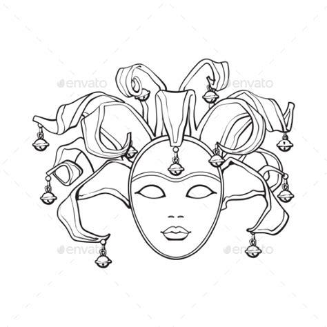 jester mask template venetian mask template 187 tinkytyler org stock