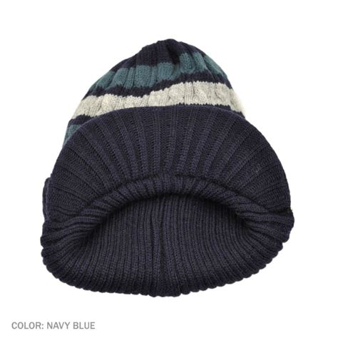 knitting beanie jaxon hats striped cable knit acrylic visor beanie hat beanies