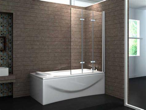 badewannen duschwand duschwand badewanne glas 3 tlg faltwand mit verchromt