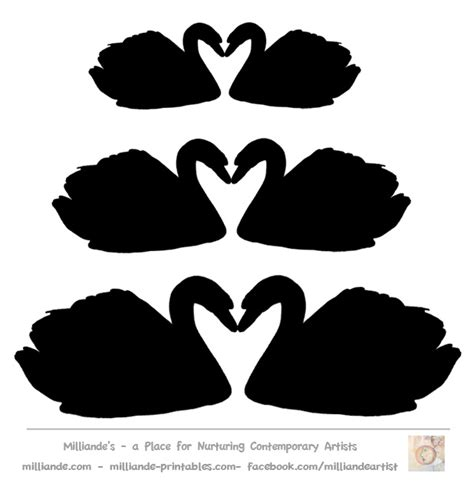 swan mask template swan silhouette template free swan silhouettes swan