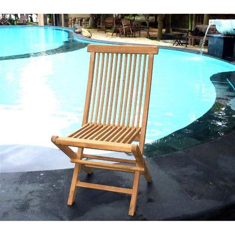 chaises en teck chaise en teck naturel brut de grade jardin interieur