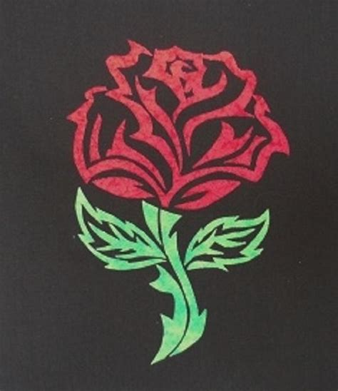 Tribal Pattern Rose | tribal rose applique pattern by humburgcreation craftsy