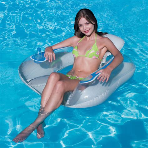 Floating Pool Chair by Floating Transparaent Swimming Pool Flip Lounge Chair 14