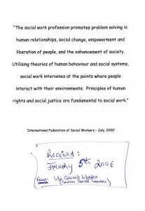 Social Work Essay Exles by Help Writing Personal Statement For Social Work