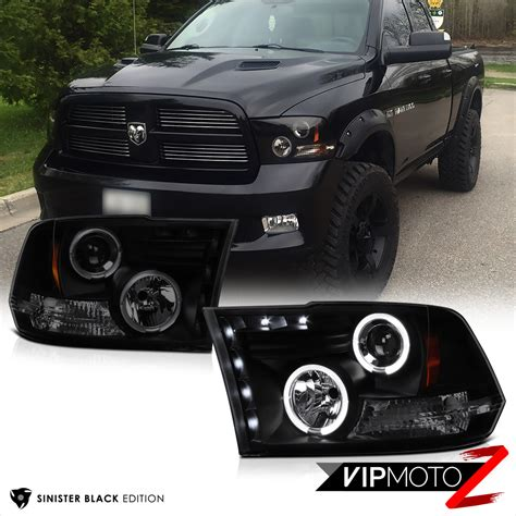 blacked out lights dodge ram 1500 2009 2017 dodge ram sinister black halo led headlights