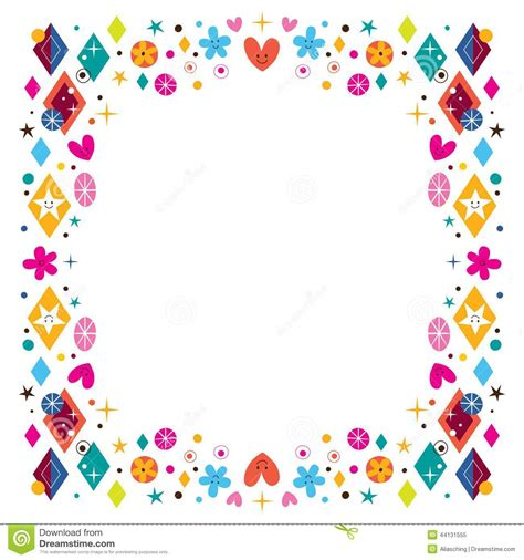 cornici colorate da stare hearts flowers and shapes happy frame