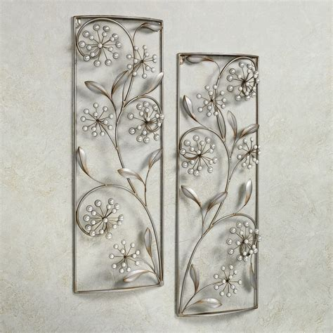 wall decor metal pearlette metal wall panel set