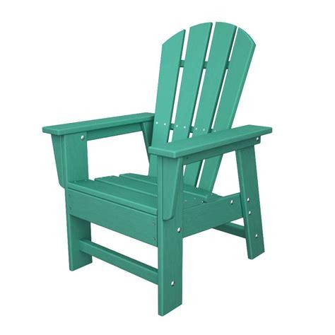 shop polywood kids aruba plastic adirondack chair  lowescom