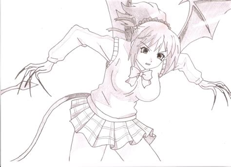 rosario vire kurumu kurono sketch coloring page