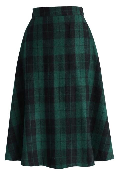 Tartan Midi Flare Skirt best 25 green plaid skirt ideas on plaid