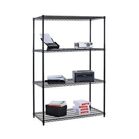 costco wire shelving 4 tier wire shelving rack 48 quot x 24 quot x 72 quot nsf black