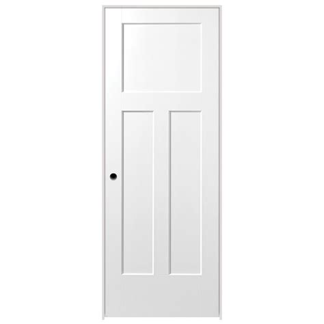 Single Door Closet Masonite 32 In X 80 In Winslow Primed 3 Panel Hollow Composite Single Prehung Interior