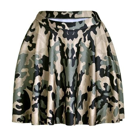 camouflage skirt dressed up