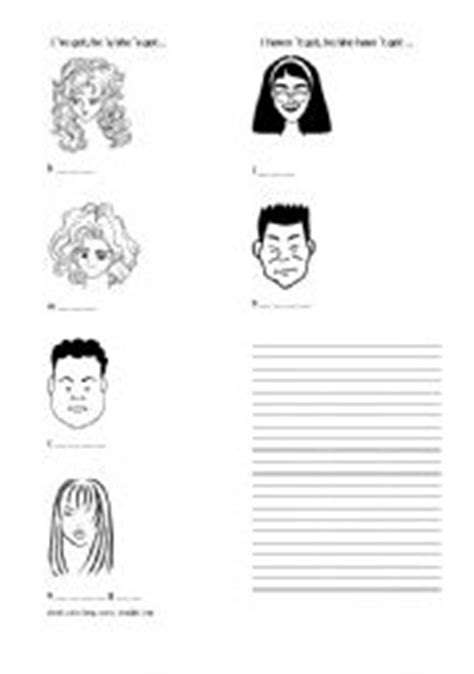 hair care vocabulary teaching worksheets describing the hair