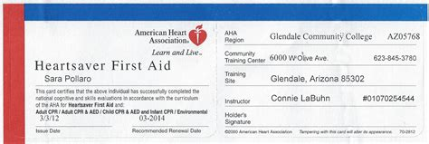first aid certificate template first aid training