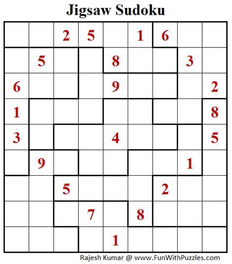 printable jigsaw sudoku puzzles free jigsaw sudoku puzzle daily sudoku league 187 fun with