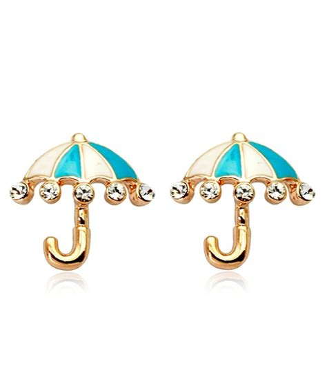 Misel Anting Earrings Blue Misel Collection umbrella earrings import jy58341 blue tamochi