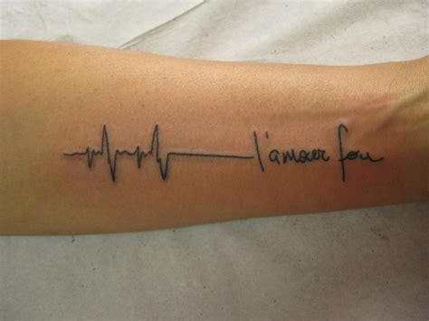 heartbeat monitor tattoo heartbeat or ekg line tattoo designs and meanings hubpages