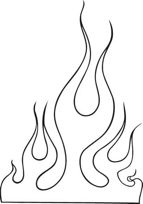 tattoo simple stencils flame outline images clip art 10 flames tattoo outline