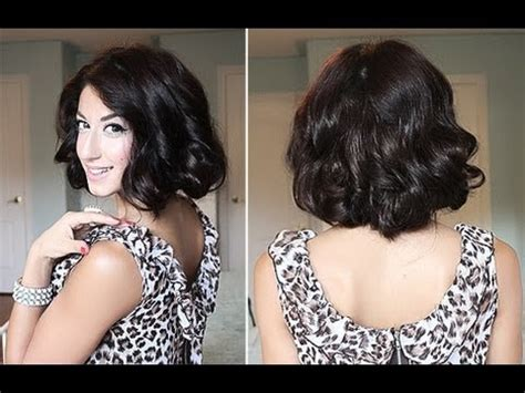 how to bob long hair with a rubber band how to glamorous faux curly bob youtube
