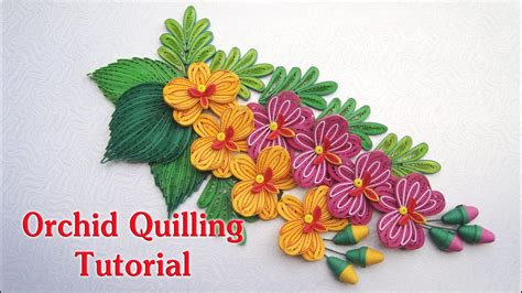 paper quilling orchid tutorial quilling orchid flower v2 and bud tutorial diy paper