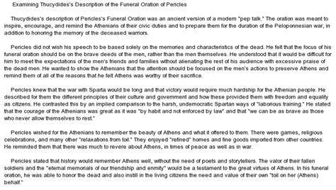 Peloponnesian War Essay by Thucydides The Funeral Oration Of Pericles Essay Vergilmosley1 S