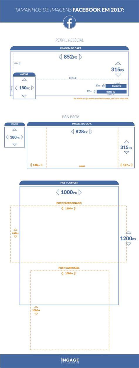 tamanho layout facebook tamanho imagens facebook 2017 marketing pinterest