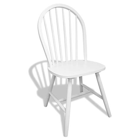 Rounded Dining Chairs Vidaxl Co Uk 6 Wooden Dining Chairs White