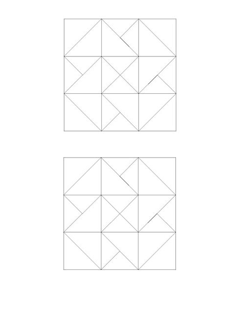 Patchwork Template - patchwork and quilting card trick block